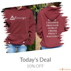 Today Only! 10% OFF this item.  Follow us on Pinterest to be the first to see our exciting Daily Deals. Today's Product: Sale -  Always Harry potter hoodie Deathly hallows sign Book titles with Harry Potter Back Print Stone Chamber Prisoner Goblet Hogwarts pull Buy now: https://small.bz/AAZNhRe #etsy #etsyseller #etsyshop #etsylove #etsyfinds #etsygifts #musthave #loveit #instacool #shop #shopping #onlineshopping #instashop #instagood #instafollow #photooftheday #picoftheday #love #OTstores…