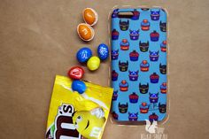 Superhero cupcakes case | iPhone case by Belkashop on Etsy