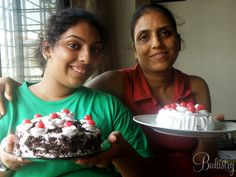 Heta learned eggless black forest cake!