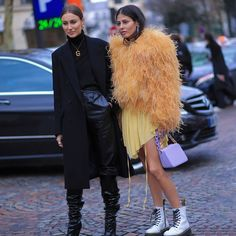 Giorgia Tordini & Gilda Ambrosio   During Fashion Week a/w 2018   Paris Soon at THESTREETVIBE.COM Snapcha