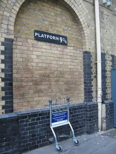 Platform 9 3/4 King's Cross near Harry Potter Shop. One day I shall go here and take a picture