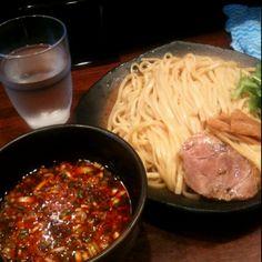 <神泉 うさぎ>坦々つけ麺。最後はスープで割る。毎日食べても飽きない気がする。たぶん。渋谷(神泉)で一番おいしいと思ってます。