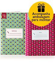 Presente Natura Crer Para Ver - 2 Mini Cadernos + Embalagem Desmontada