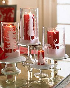 Glittered Hurricane Lanterns | Step-by-Step | DIY Craft How To's and Instructions| Martha Stewart