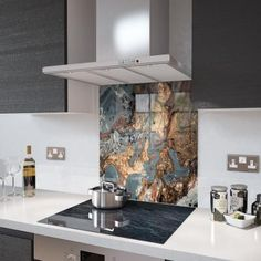 Glass Splashback - Printed Digital Images - Made To Measure Glass Kitchen, Kitchen Decor, Kitchen Ideas, Kitchen Inspiration, Rangemaster Cookers, Printed Glass Splashbacks, Kitchen Modular, Industrial Style Kitchen, Safety Glass