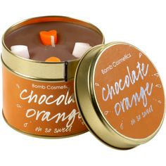 Chocolate Orange Candle - Tinned Candles - Candles - Home Fragrance   Bomb Cosmetics
