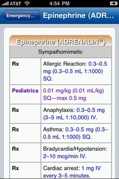 Emergency Medications screenshot from the EMS ACLS application for iPhone #EMS #ACLS #ALS #Paramedic #iPhone