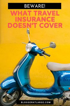 Travel Insurance: What you need to look for. It turns out I've been travelling for years thinking I was covered for things like a cruise or renting a motorbike when actually I wasn't. Read this post BEFORE you take out travel insurance so you don't get stuck without cover.  #travel #insurance #traveltips #travelinsurance #tipsfortravel @bloggeratlarge