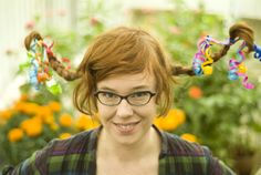 How to make pippi longstocking braids!  Fun for crazy hair day at school.