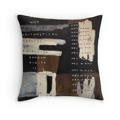 """ Neumann - State Of Sin"" Throw Pillows by Oliver Sin"