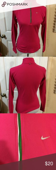 Nike workout shirt Nike workout shirt  Excellent condition Long sleeve and 1/4 zipper Nike Tops Tees - Long Sleeve