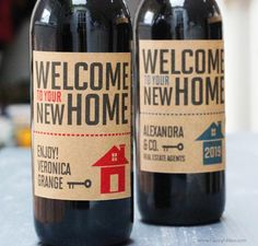 Your place to buy and sell all things handmade - Real Esate Agent Closing Gift,Client Gift, New Home Gift , Real Estate Wine Label/ Tag with or With - Personalized Wine Labels, Custom Labels, Real Estate Gifts, Company Gifts, Realtor Gifts, Client Gifts, New Home Gifts, Corporate Gifts, Real Estate Marketing