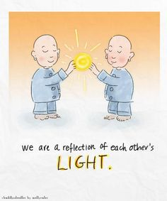 Buddha Doodles: Reflection of Light Tiny Buddha, Little Buddha, Buddah Doodles, Affirmations, Zen, Gautama Buddha, Illustrations, Inner Peace, Thought Provoking