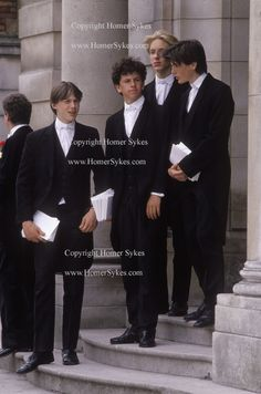 ETON COLLEGE SCHOOL BOYS WEARING TRADITIONAL UNIFORM WINDSOR UK by Homer Sykes, via Flickr