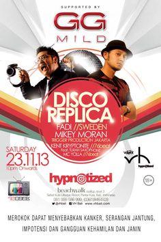 Disco Replica December edition 2013 at Velvet & Hypnotized Bali, Beachwalk 3rd floor