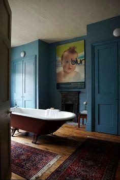 Stone Blue By Farrow Ball Modern Home Interior Design Bathroom