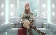 Final-Fantasy-XIII (1) =  .. I don't play this game, but this girl is definitely what I picture when I think of my alter ego as the Maiden of Swords (my live name). I probably sound so crazy rn.