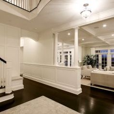 white + dark floor... The only way I would want it with dark floors... I prefer light wood and bright,well lit homes