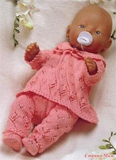 not in English Knitted Doll Patterns, Doll Patterns Free, Doll Sewing Patterns, Knitted Dolls, Doll Clothes Patterns, Baby Knitting Patterns, Knitting Dolls Clothes, Crochet Doll Clothes, Crochet Kids Scarf
