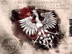 """Polska i Orzeł ."""" and at the other end of the world - I will be proud of polish roots"""" Historical Monuments, Polish Recipes, My Heritage, Coat Of Arms, Medieval, Fiction, Lion Sculpture, Tumblr, Drawings"""