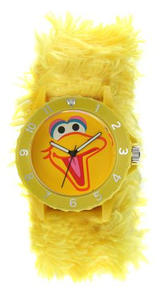 Sesame Street SW4930BB Big Bird Furry Slap Watch