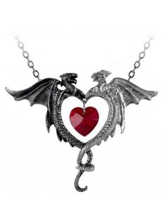 Coeur Sauvage Gothic Pendant By Alchemy Gothic