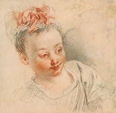 Antoine Watteau | 1684-1721 | Head of a Girl in Cap | The Morgan Library & Museum