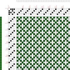 draft image: Interlocking Crosses, Handweaving.net Visitors, 4S, 4T
