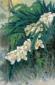 Китайский живописец Yitao Liu (220 работ) Chinese Painting, Chinese Art, Orchid Images, Cattleya Orchid, Japan Painting, Chinoiserie Wallpaper, Asian Art, Japanese Art, Flower Art