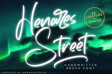 Heares Street - Brush Font by Arendxstudio on @creativemarket