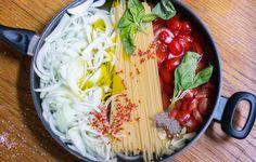 Tomato, Onion & Basil One-Pan Pasta