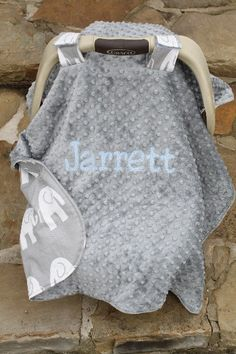 Car Seat Cover Tent Boy or Girl, Fabric and Minky you design, Personalized
