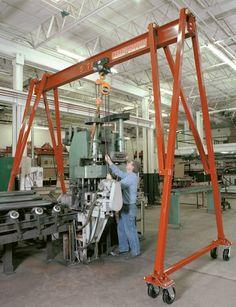 Wallace Portable Gantry Garage Tools, Garage Workshop, Garage Storage, Welding Shop, Welding Table, Metal Working Tools, Metal Tools, Metal Projects, Welding Projects