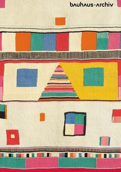 Bauhaus carpet. I saw this at the Barbican centre some time ago. Nice.