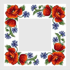 Napkin with wild flowers Cross Stitch Borders, Cross Stitch Alphabet, Cross Stitch Flowers, Cross Stitching, Cross Stitch Embroidery, Cross Stitch Patterns, Dream Catcher Tattoo Design, Crochet Cowl Free Pattern, Free To Use Images