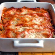Skinny vegetable lasagna.