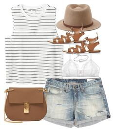 Outfit for summer vacation by ferned featuring a fedora hat Monki white  tank top c3d5dea319f2