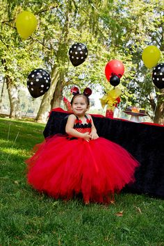 Minnie mouse party dress Minnie Mouse Tutu Dress Princess Minnie inspired by GlitterMeBaby, $55.00