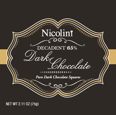 Nicolini Chocolates packaging- Dark Chocolate #chocolate #design #packaging #label #darkchocolate #create #agency Chocolate Squares, Chocolate Chocolate, Chocolate Packaging, Design Packaging, Chocolates, Chalkboard Quotes, Label, Branding, Pure Products