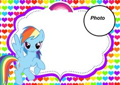 My Little Pony -Party Invitation with photo                                                                                                                                                                                 More