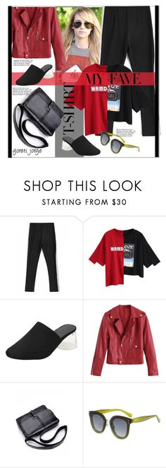 """""""Emma Roberts - Dress Up a T-Shirt"""" by goreti ❤ liked on Polyvore featuring CelebrityStyle, polyfriends, zaful and MyFaveTshirt"""