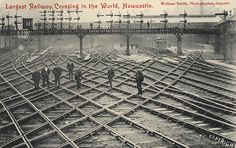 Description : The photograph shows a railway junction outside of the station which was the largest railway crossing in the World at that timeRailways Collection : Local Studies Printed Copy : If you would like a printed copy of this image please contact Newcastle Libraries www.newcastle.gov.uk/tlt quoting Accession Number : 003704