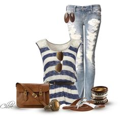 30 Cute Casual Summer Outfits Combinations http://www.stylemotivation.com/30-cute-casual-summer-outfits-combinations/