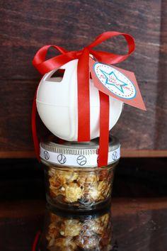 Baseball and Cracker Jacks Party Mason Jar Favor by EllaJaneCrafts, $24.00