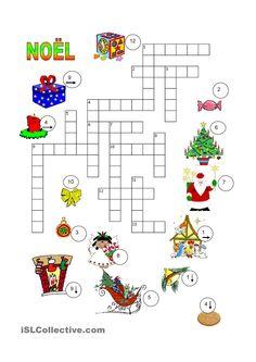 Noël mots croisés - #jeux éducatif sur le thème de #Noël - apprendre en s'amusant !