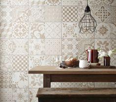 Bristol Beige Wall And Floor Tile - Bristol Wall and Floor Tiles - Kitchen Tiles - Tiles Ceramic Tile Floor Bathroom, Kitchen Wall Tiles, Bathroom Red, Wall And Floor Tiles, Large Bathrooms, Modern Bathroom, Bathroom Ideas, Vintage Tile, Vintage Kitchen