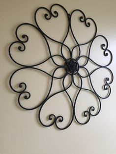 I found this wrought iron wall hanging for less then a $1 at the goodwill outlet. Iron Wall, Wire Crafts, Welding, Wrought Iron, Metal Working, New Homes, Craft Ideas, Wall Art, Home Decor
