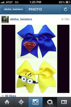 Minion Cheer Bow...I have to make one for Chloe!!! :)