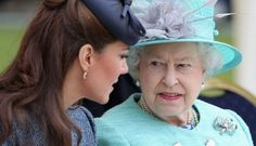 Queen Elizabeth II and Catherine Duchess of Cambridge both rock a crown now and again, and they both pose very similarly in iconic photos