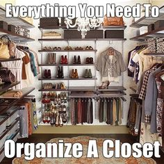 An A-Z guide with all of my best tips, essential tools, product recommendations and storage guides for #closetorganization Closet Bedroom, Master Closet, Closet Space, Huge Closet, Master Bedroom, Ikea Closet, Closet Redo, Diy Bedroom, Bedroom Ideas